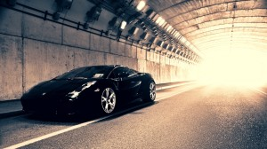 Lamborghini Gallardo Passing Through Tunnel
